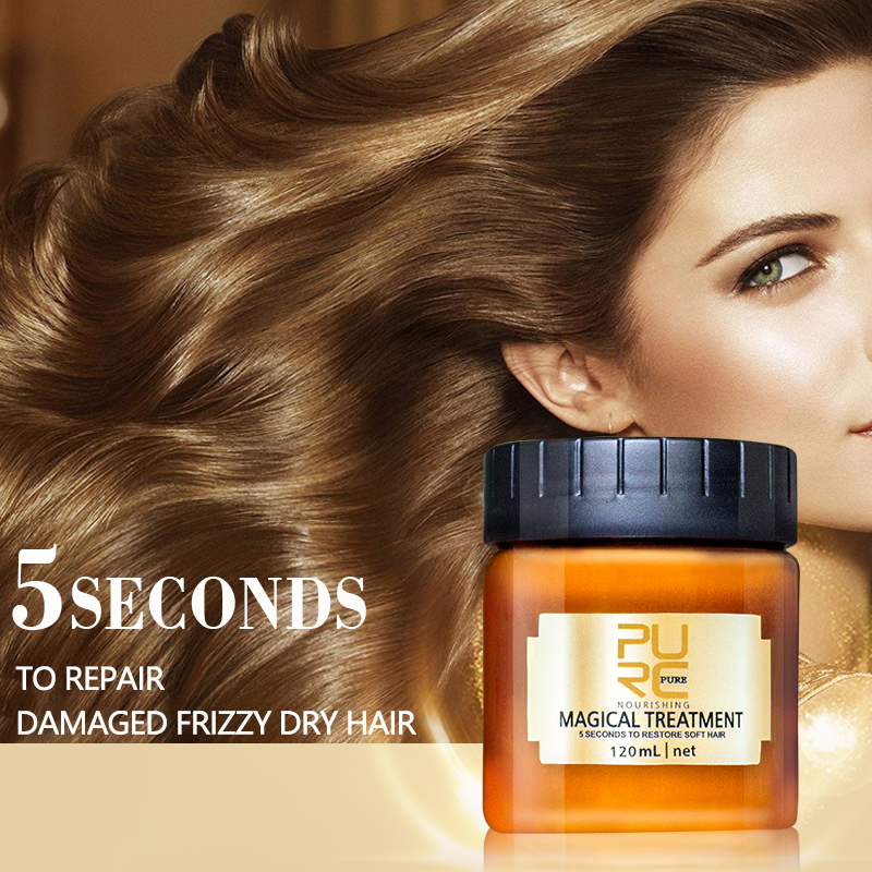 PURC Magical treatment hair mask Nutrition Infusing Masque for 5 seconds Repairs hair damage restore soft hair free shipping