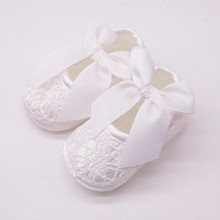 Newborn Baby Girls Soft Shoes Soft Soled Non-slip Bowknot Fo