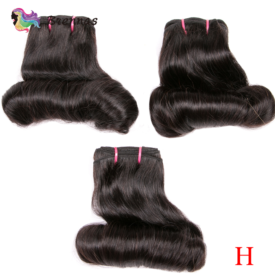 Human Hair Bundles Funmi Double Drawn Bouncy Curly Hair Weave Bundles High Ratio Brazilian Hair Extension Natural Color Non-Remy