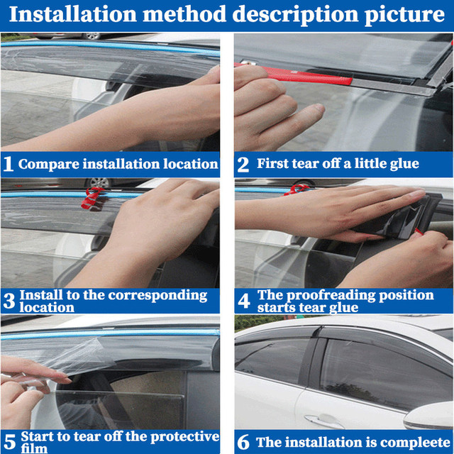 For BMW X5 E53 1998-2006 window visor car rain shield deflectors awning trim cover exterior car-styling accessories parts 6