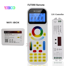 MiBOXER FUT090 2.99 ZONE Tracklight Remote LS1 4 in 1 Smart LED Controller for Single Color,CCT,RGB RGBW Strip,DC12V 24V 15A