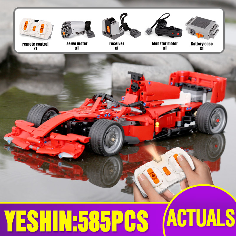 Yeshin MOC Car Motor Function Cars The Technic Motor Car F1 Speed Racing Car Building Blocks Bricks Assembly Car Model Kids Toys image