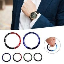 38mm plástico relógio moldura escala inserção exterior anel substituição relógio de pulso kit ferramentas reparação jóias bezel relógios caso 4 cores