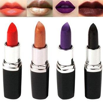 6 colori Rossetto Opaco Vampire Donne di Stile del Labbro di Trucco Velluto Compagno di Rossetto A Lunga Durata Impermeabile Rosso Viola Nero Rossetti 1