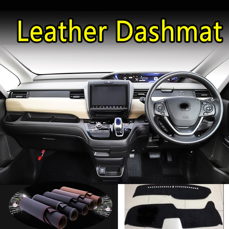 For Honda Freed GB5 GB6 GB7 GB8 2017 2018 2019 2020 Leather Dashmat Dashboard Cover Dash Mat Carpet Car Styling Accessories