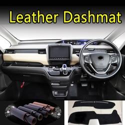 Para honda freed GB5 GB6 GB7 GB8 2017 2018 2019 2020 Dashmat de cuero salpicadero cubierta Dash Mat alfombra accesorios de estilo de coche