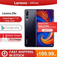 Originale Lenovo Z5s Snapdragon 710 Octa Core 6 Gb 128 Gb Smartphone Viso Id 6.3 Ai Triple Posteriore Della Macchina Fotografica Del Android P Cellulare