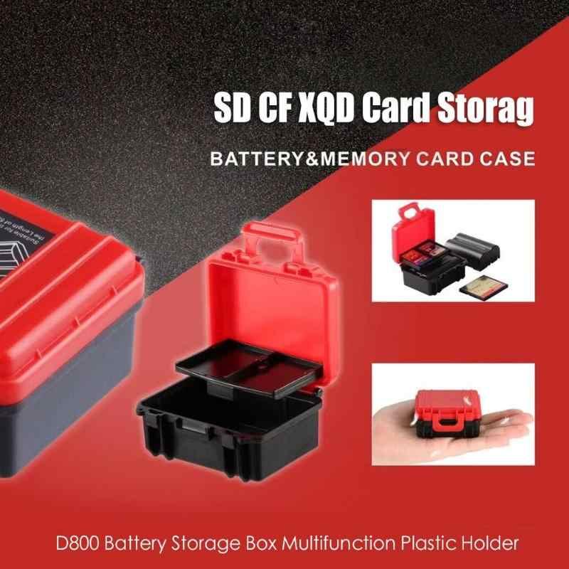 D800 حافظة بطاريات مربع متعددة الوظائف حامل بلاستيك ل SD CF XQD بطاقة صندوق تخزين لكانون سوني فوجي نيكون متعددة الوظائف الخفافيش