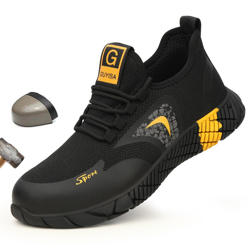 37 - 46 Code Fashion Light And Breathable Steel Safety Shoes Sneakers Steel Toe Cap Work Shoes Anti-smashing Men Work Boots