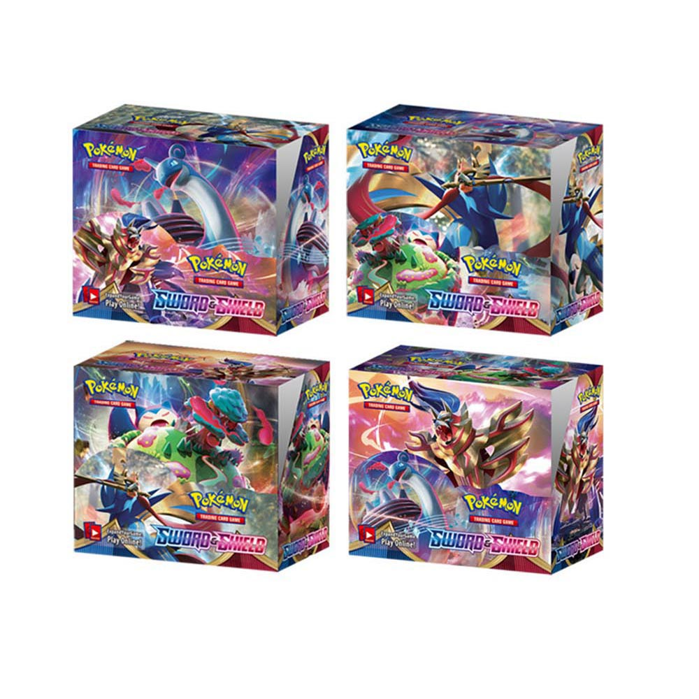 2020 New 324pcs Pokemon Sword Shield Sun & Moon Evolution Thunder Booster Box Trading Cards Game Kids Collection Toys