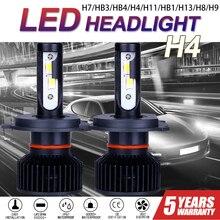 CarTnT 2PCS  Car Headlight Bulbs H7 LED H9 HB3 9005 HB4 9006 H11 H4 H8 9004 HB1 H13 LED Headlight Canbus 100W 30000LM 6500K 12V
