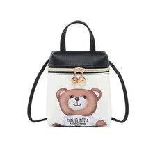 Bags For Women 2019 Cartoon Messenger Shoulder Bags Mobile Phone Bag Crossbody Cute Fashion Mini Bear Bag PU Leather Handbag