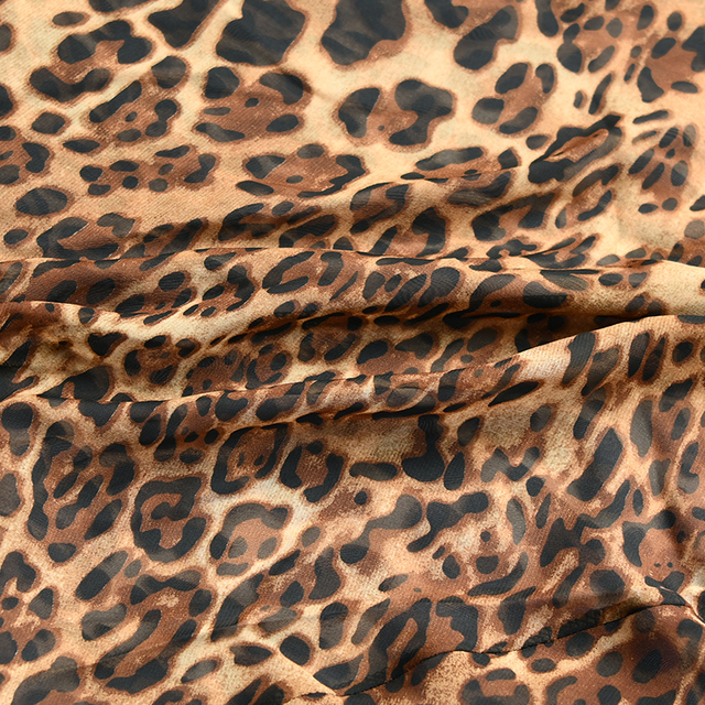 Articat Sexy V Neck Leopard Party Dress Women Spaghetti Strap Backless Slim Maxi Dress Summer Chiffon Long Beach Dress Vestidos 6