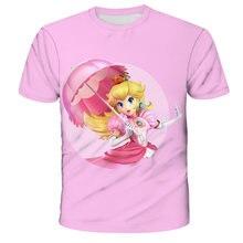 Mario kids clothes girl T-Shirt boys clothes T-Shirts Short Sleeve t-shirt Super Mario Print Top Mario Brother baby girl clothes