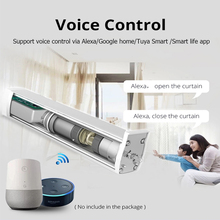 new arrival working Alexa WIFI APP control silent quality S track automatic curtain track 433MHZ home used motorized curtain