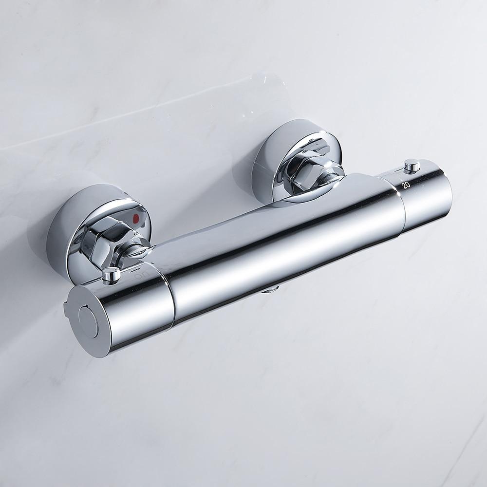 EVERSO ensemble de robinet de douche salle de bain robinets de douche cascade mitigeur thermostatique mitigeur de douche
