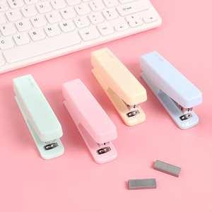 Binding-Machine Stapler Office-Supplies Macarons-Color JIANWU10 School Cute Kawaii Give