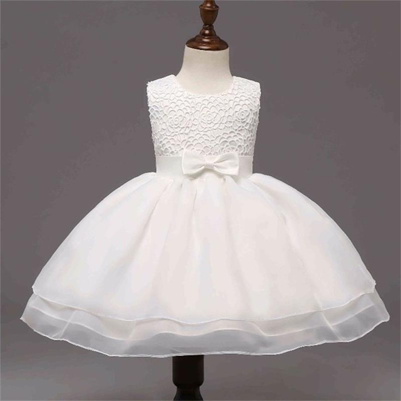 New Infant Girl White Gown Christening Baptism Dress Size 0 1 2 3 4 Formal