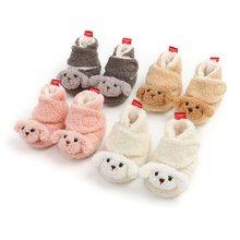 Милые меховые сапоги для новорожденных и малышей; Зимние девочек;