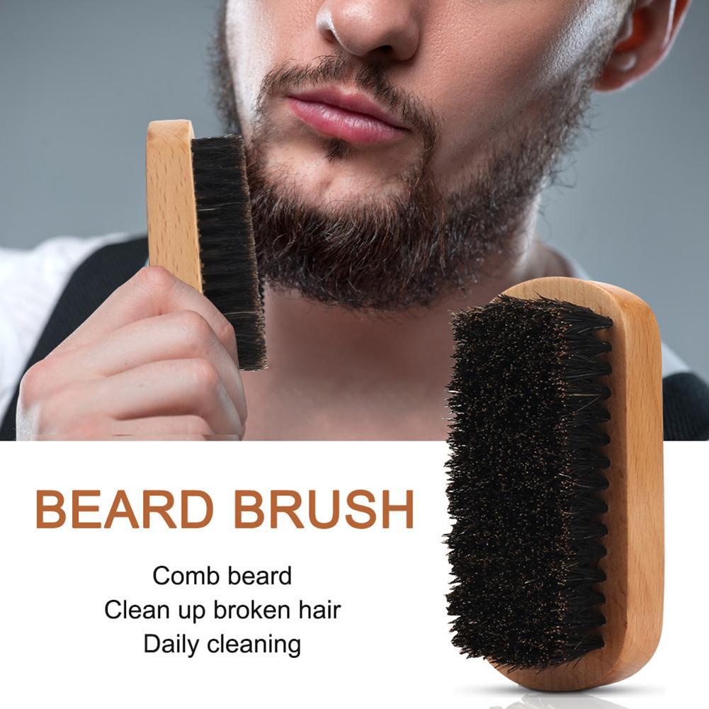 Men Beard Kit Styling Tool Beard Essence Oil Comb Brush With Apron Cloth Moustache Balm Moisturizing Wax Styling Beard Care Set 5