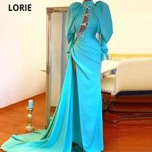 Lorie реальное фото на одно плечо атласные бусины Вечерние платья