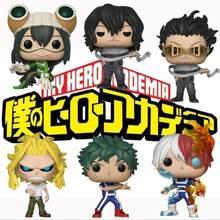 Anime japonês meu herói academia deku treinamento katsuki tudo pode enfraquecido todoroki tsuyu vinil figura coleção modelo brinquedos