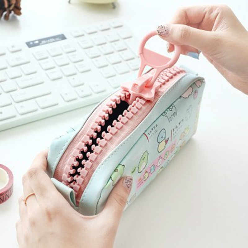 Cute Sumikko gurashi Pencil Bag for school Big capacity pencil case Creative stationery pouch Estuche School Office Supply Zakka