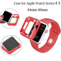 Приятная на ощупь ТПУ Защита от царапин чехол для Apple Watch чехол серии 4 силиконовые для замены бампера часы аксессуары 44 мм 40 мм