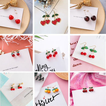 2020 Fashion New Sweet Cute Cherry Earrings Collection Hot Sale Red Fruit Cherry Fruit Earrings Beautiful.jpg 350x350 - 2020 Fashion New Sweet Cute Cherry Earrings Collection Hot Sale Red Fruit Cherry Fruit Earrings Beautiful Women Jewelry Gifts