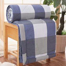 Colcha de algodón para aire acondicionado, edredón fino a cuadros de raya marinera, cubierta de cama, manta suave transpirable, colcha para ropa de cama