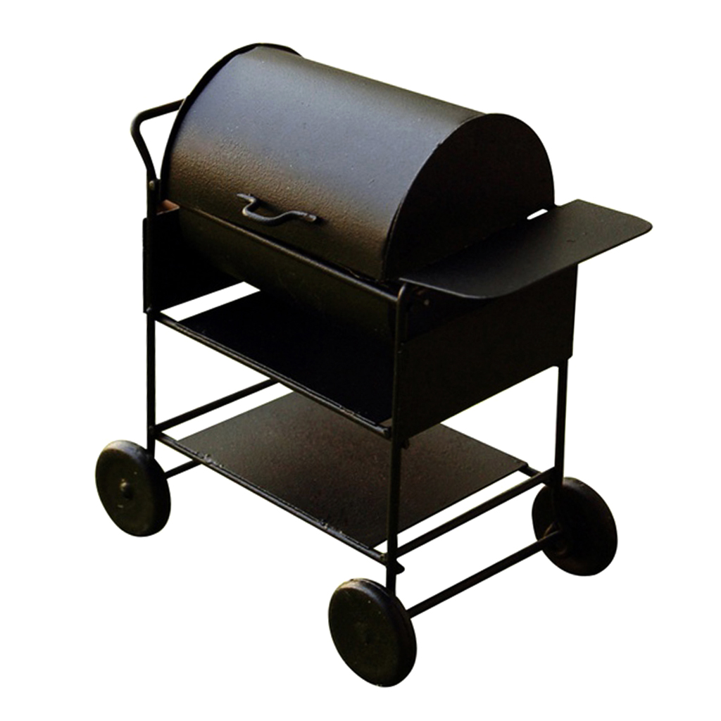1/12 Black BBQ Grill Dollhouse Miniature Furniture Accessories Outdoor Garden Accessories