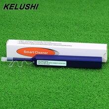 Kelushi fibra óptica líquido de limpeza caneta atualização lc 1.25mm/sc 2.5mm conector fibra óptica limpador de um clique ferramentas de limpeza caneta