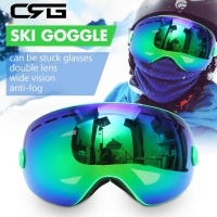 Winter Two layers Lens Spherical Ski Goggles Snowboard Anti Fog Anti Slip Outdoor Sport Racing Skiing Protector Eyewear