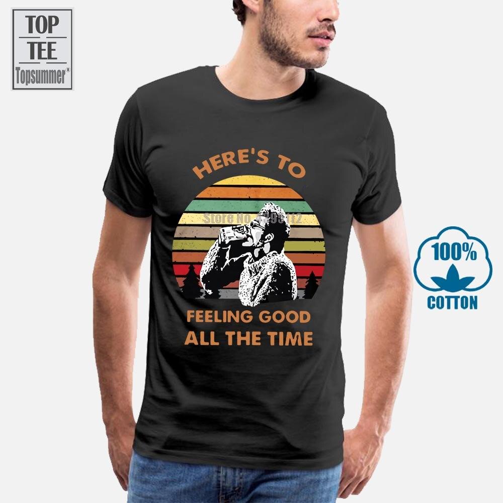 Seinfeld Kramer Here S To Feeling Good All The Men'S Black футболка из хлопка M 5Xl