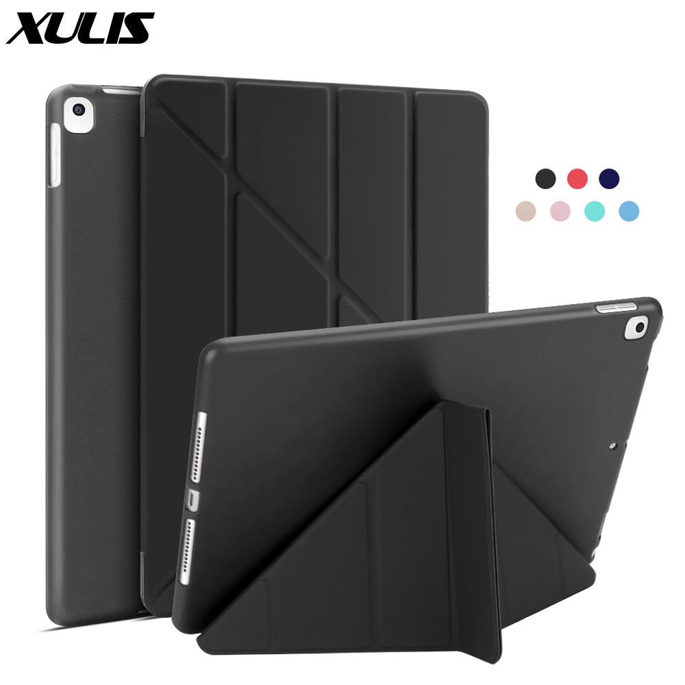 For iPad 10 2 Case 2020 2019 PU Leather Multi Fold Stand Smart Cover For iPad
