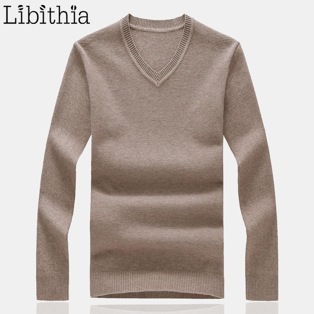 XL Men/'s Plain Knitted Jumper V-Neck Light Cotton Formal Style Regular Fit M