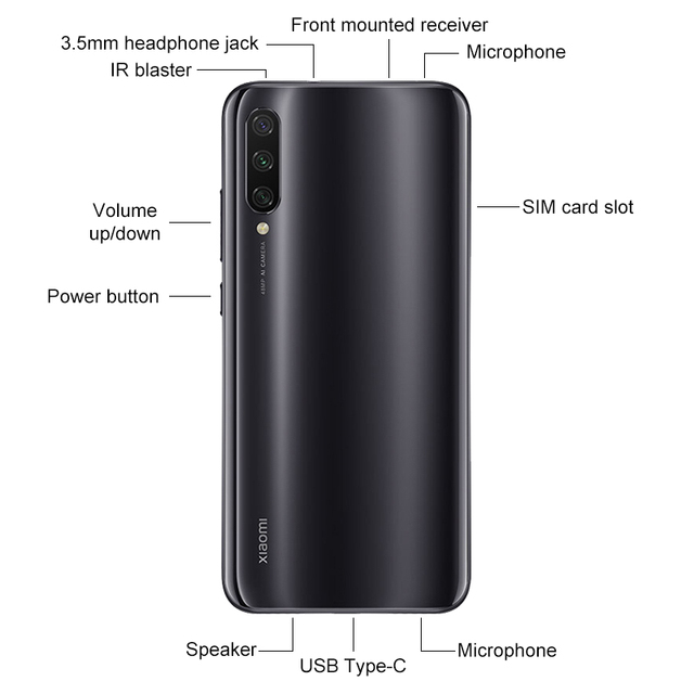 Global Version Xiaomi Mi A3 MiA3 4GB 64GB Smartphone Snapdragon 665 Octa Core 6.088 3