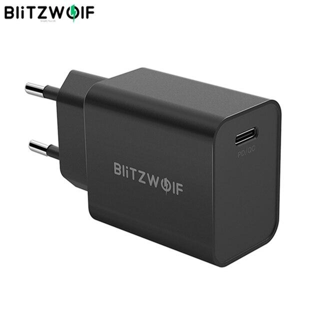 Blitzwolf S12 27ワットQC4 + QC4.0 QC3.0 pdタイプcポートeu au usb携帯電話充電器iphone 12プロマックスhuawei社xiaomi