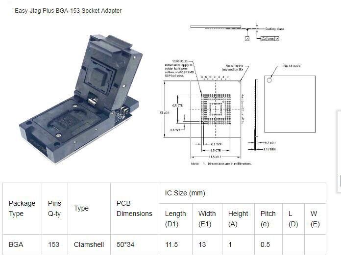 2020 NEW ORIGINAL Easy-Jtag UFS BGA-95 Socket + UFS BGA-153 Socket +UFS BGA-254 Socket/EMMC 254 Adapter with EASY JTAG PLUS BOX(China)