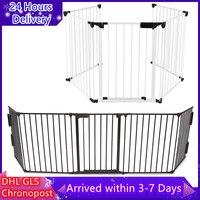 5 stück von Hund Zäune Metall Baby Sicherheit Tür Garten Liefert für Hund Katze Haustier Puppy Pet Tor Geniale Grid weiß/Schwarz Käfig HWC