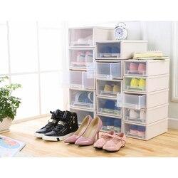 Plastikowy futerał do przechowywania szuflady szafka schowek na ubrania pudełko na ubrania pudełko na buty DIN889 w Składane torby do przechowywania od Dom i ogród na
