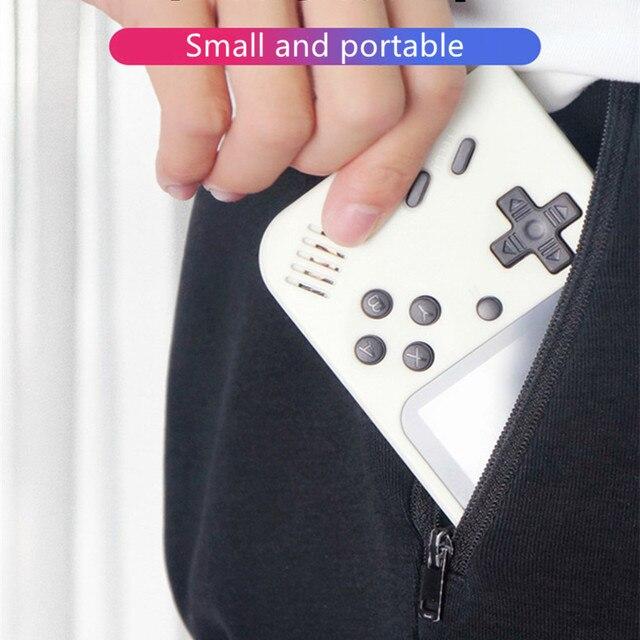 ألعاب 500 في 1 ألعاب ريترو لعبة فيديو صغيرة وحدة التحكم المحمولة الجيب ريترو يده لعبة لاعب الألعاب الكلاسيكية هدية للأطفال