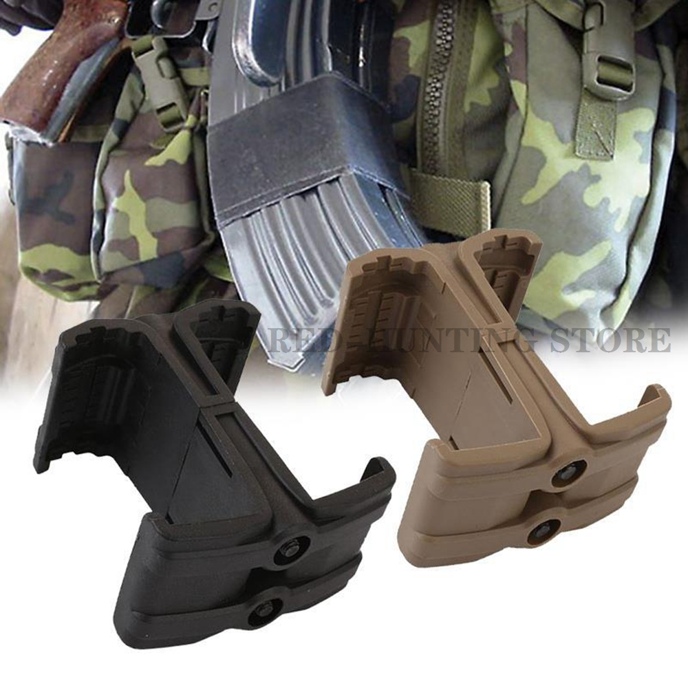 Tactical AR15 Rifle Gun Double Magazine Coupler Link Magazine Speed Loader M4 Parallel Connector