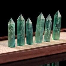 1 шт. Природный Флюорит шестигранный кристалл Кристал острый исцеляющая палочка минеральный кристалл дома украшение из камня Декорации для Кабинета