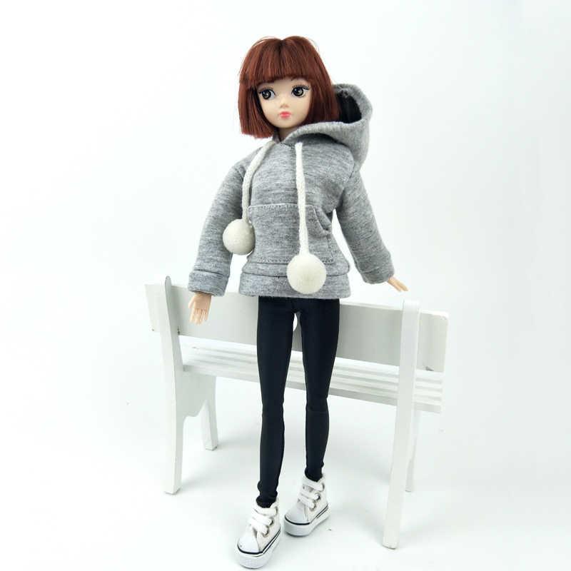 グレートレーナーコートのバービー人形バービー人形の衣装革パンツキャンバスシューズ 1/6 人形アクセサリー子供たちのおもちゃ