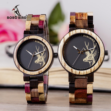 BOBO BIRD Luxury Lovers' Wooden Couple Watches Men Women Han