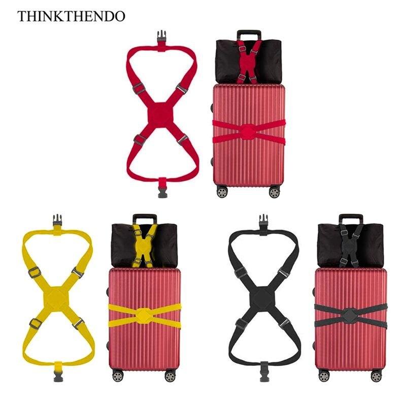 Travelling Elastic Luggage Belt Baggage Adjustable Straps Tie Down Belt New