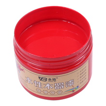 Red Water-based Woodwork Paint Water-proof & Mildew-proof Lacquer for Wood,Fabric,Paper,Canvas,Hand-painted, 250g