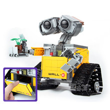 цены на Kids Love 687pcs Idea Robot Wall E 21303 Model Building Blocks Kit Toys For Children Education Gift Bricks Toy  в интернет-магазинах