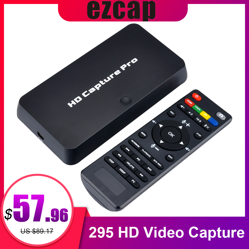 Ezcap 295 HD Video Capture 1080P Recorder USB 2.0 Afspelen Capture Kaarten w/Remote Hardware H.264 Encoding Voor xbox Een PS4-in Video- en TV-tunerkaarten van Computer & Kantoor op AliExpress - 11.11_Dubbel 11Vrijgezellendag 1